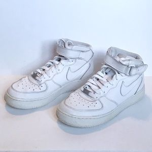 Boys white Nike Air Force 1s